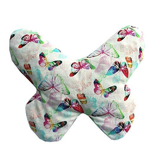 Saquito térmico anti cólicos bebé 'Mariposa'- relleno de 170gr de huesos de cereza - Para aliviar cólicos, gases, dolores de barriga de bebés, etc - 18x18cm - 100% algodón