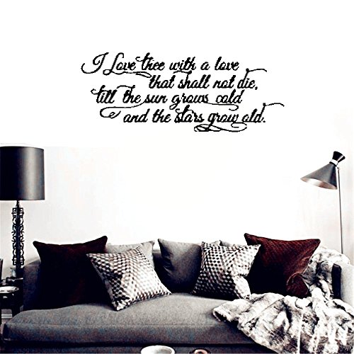 Stickers Muraux Wall Stickers Art Decor Vinyl Peel And Stick Mural Decals I Love Thee With A Love That Shall Not Die