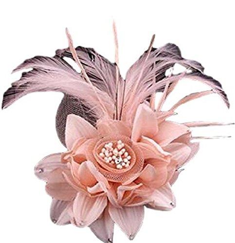 Braut Haarschmuck Kopfschmuck Brustblume Haarblume Blumen Haarspange Damen Accessoires Premium Flower Blüten mit Sicherheitsnadeln aus Handarbeit (rose1)