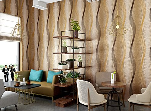 Vlies Tapete Wandtapete Modern Minimalist Pvc Deep Embossed Wallpaper Wallpaper, Living Room Ktv Wallpaper, 0.53 * 10M,L -