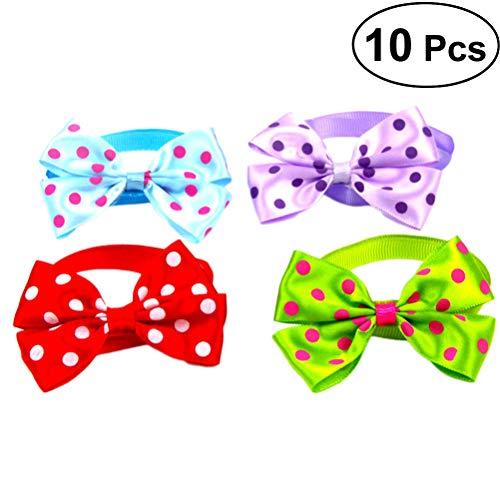 POPETPOP Hundebett Krawatte Hundebett Krawatte für Hunde verstellbar Hunde Zubehör für Hunde 10 Stück (gemischte Farbe)