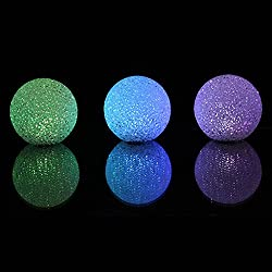HuntGold Mágico cristalino del color de la bola Cambiar la decoración del dormitorio la noche del LED de luz de lámpara