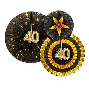 Neviti 773826Glitz y Glamour edad 40verde, negro/oro