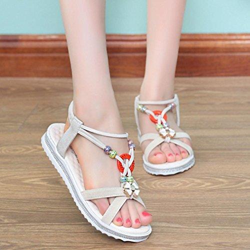 DM&Y 2017 versione coreana del perline testa piana dei sandali delle donne di pesce perline delle donne di estate e White