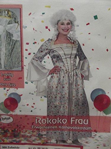 Erwacksenen Kostüm Verkleidung Fasching rokoko roccoco Damen Frau one size