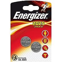Energizer - Pila, CR 2025, litio 3V, DL 2025 - Los 2 pilas