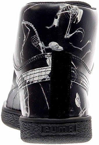 Puma States Mid X Swash Relic Cuir Baskets Black