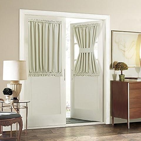 Aquazolax Solid Rod Pocket Blackout Curtain Drapery for French Door