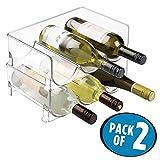 mDesign Juego de 2 botelleros de vino – Mueble botellero