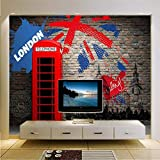 Cczxfcc Moderne Londres Téléphone 3D Fonds D'Écran Personnalisé Photo Murales Pour Le Salon Décor À La Maison Ville Européenne Nature Paysage Mur Papiers-250Cmx175Cm