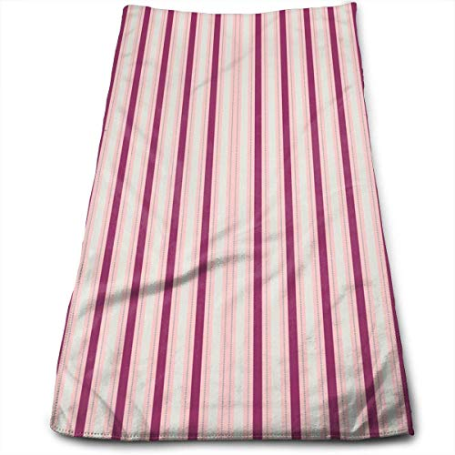 Berry Stripe Cotton Bath Towels for Hotel-Spa-Pool-Gym-Bathroom - Super Soft Absorbent Ringspun Towels