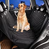 "BIGWING Style Dog Pet Seat Covers Pet Travel Carrier With Adjustable Seat Belt Dog Pet Cat WaterProof NonSlip Mats Hammock,54""*58""-Black"