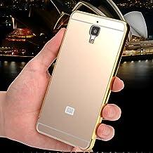 Prevoa ® 丨 Aluminum Bumper Funda PC Back Case para Xiaomi 4 M4 Mi4 5.0 Pulgadas Smartphone - Oro