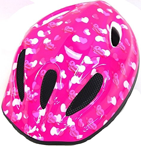 Caschetto Casco per bicicletta Bambina ROSA - Misura S (48 cm - 52 cm)