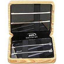 GEWA 751004 - Estuche de madera para 6 lengüetas de clarinete, color negro