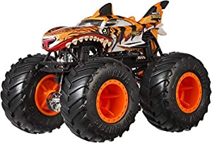 Hot Wheels - Monster Trucks Vehículo 1:64 loco punk, coches de juguetes (Mattel GJY19)