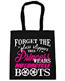HippoWarehouse Forget the Glass Slippers This Princess Wears Motorcycle Boots Tote Shopping Gym Beach Bag 42cm x38cm, 10 litres