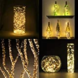LE 20m 200 LED Copper Wire Lights, IP65 Waterproof Plug in Fairy Lights, Warm White Decorative String Lights for Party, Wedding, Garden and More Bild 8