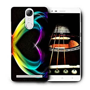 Snoogg Colorful Heart Designer Protective Back Case Cover For Lenovo Vibe K5 Note