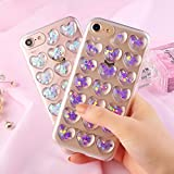 iPhone 7/8 Plus Fall, vanqiang Luxus Fashion Love Heart Soft TPU Pfirsich Herz Jelly blau pink Handy Back Cover Girl Handy Fall für Apple iPhone 7/8 Plus 1one 6/6S Plus