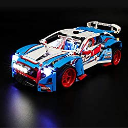 BRIKSMAX Kit de LED pour Lego Technic La Voiture de Rallye, Compatible avec la Maquette Lego 42077, La Maquette de Construction n'est Pas Incluse