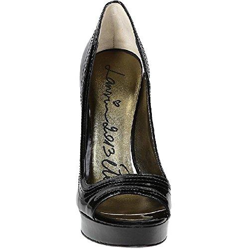 Escarpins à bout ouvert Lanvin en cuir verni noir - Code modèle: AW5B4NMILC7A Noir