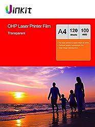 Ohp Film Overhead Projector Film - 120 Sheets A4 Laser Jet Printer & Copier Transparency Film Uinkit