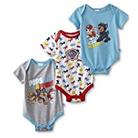 Ex-Store Baby Boys 3 Pack Bodysuits PAW Patrol Batman Novelty Rompers Vests
