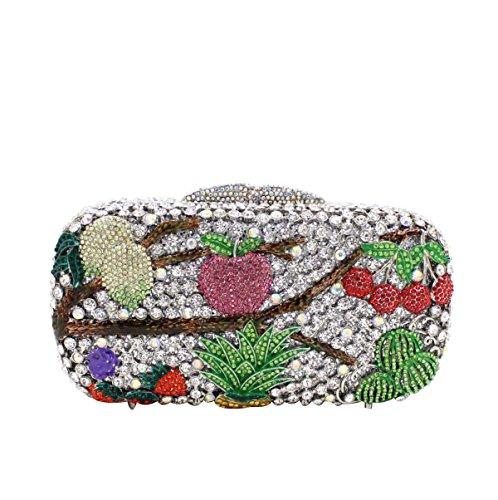 Frauen-Luxus-Diamant-Abendtasche High-End-Diamant-Bankett-Tasche B