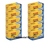 10 Rolls Kodak GC 135-24 Max 400 Color P...