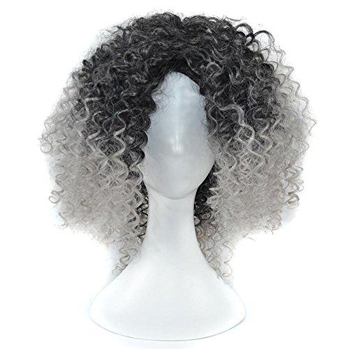 Lange lockige Perücke für Frauen Mittellange synthetische Haarperücken für afroamerikanische Frauen