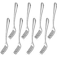 MIU COLOR® 8 piezas Cubiertos de acero inoxidable (Tenedor de cena)