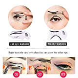 Schablonen für Katze Eyeliner und Smokey Augen Make-up Werkzeug,LDream® 2Pcs/Satz nette Smokey Katze-Eyeliner-Schönheits-Karten-Werkzeuge 2 Art-Eyeliner-Schablonen-Augenbraue-Schablonen - 5