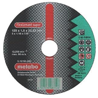 Metabo 616195000 616195000-Disco de tronzar para Amoladora Angular Flexiamant Super C60-T Cerámicos Plano Ø 115 x 1,0 x 22,22 mm (Envase de 25 Ud)