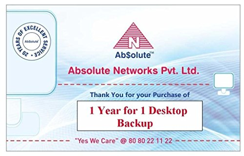Absolute 1 Desktop Backup  - 1 User, 1 Year  (Voucher)
