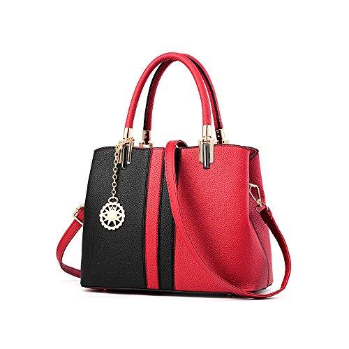 IMBETTUY Damen Handtasche Schultertasche Damen Schultertasche Mädchen Tragetaschen Messenger PU Leather Shopper (Suite Tragetasche)