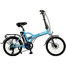 "Grid 20"" Unisex Alloy Folding Electric Bike, Blue"