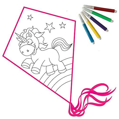Einhornliebe drago fai da te: aquilone bambini set fai da te e colorare