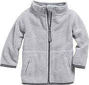 Schnizler Unisex Baby-Jacke aus Fleece, atmungsaktives und hochwertiges Jäckchen mit Reißverschluss, Grau (Grau/Melange 37), 56