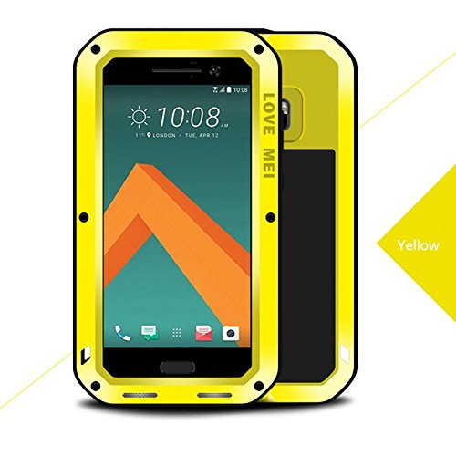 HTC 10Case, Love Mei a prueba de golpes impermeable de aluminio a prueba de suciedad/Nieve/polvo protección Gorilla Glass carcasa para HTC 105.2
