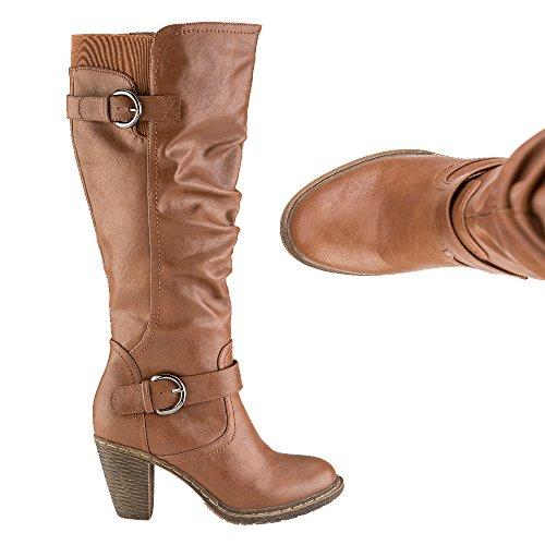 Cushion Walk Heeled Buckle Boot
