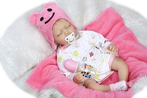 NPK Handmade Twins Realistic Reborn Baby Dolls Vinyl Silicone Newborn Girl & Boy Doll with Free Magnet Pacifier Dummy