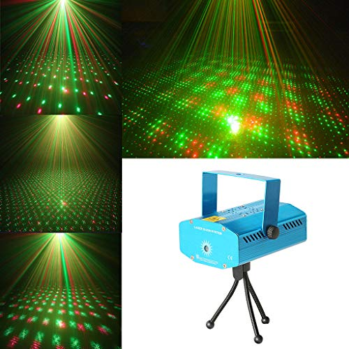 Sprachgesteuerte Party Light 5-Modi Bühnenlichteffekt-Projektionslampe für Urlaubsparty Bühnenlampen - Dj Laser Lights