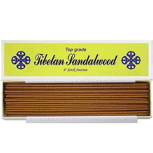 Bosen Incenses Store Top grade J007T - Bastoncini di incenso in legno 100% naturale di sandalo tibetano, 20