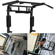Barra de dominadas montado en la pared torre de alimentación pull Up Bar Casa Ejercicio equipo Vertical Rodilla Elevar estación Dip barra de entrenamiento equipo, negro