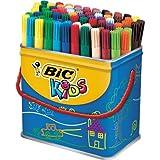 BiC Kids' Visa Colouring Pens - Barrel of 84