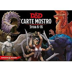 Asmodee Italia- Dungeons & Dragons-5a Edition-Carte Mostro Sfida 6-16, Color, 4033