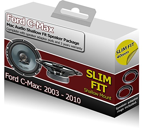 Ford C-Max Rear Door speakers Slim Shallow Fit car speaker kit   adapter pods