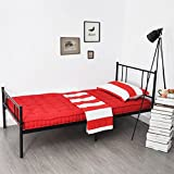 Eggree 3ft Foldable Single Modern Metal Bed Frame Bed Bases Bedstead - Black