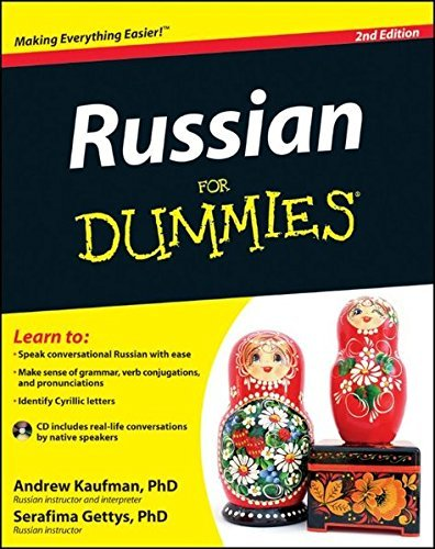 Portada del libro Russian For Dummies by Andrew D. Kaufman (2012-03-06)